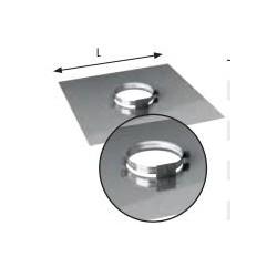 Plaque plancher Ø230mm inox...